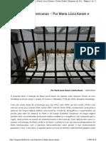 Prisões Latino Americanas - Maria Lúcia Karam e Sacha Darke