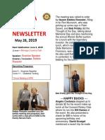 Moraga Rotary Newsletter May 28