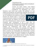 Ex-Primeiro-ministro José Maria Neves Insurge-se Contra à Construção Por Terceiros de Edifícios Junto Ao Palácio Do Governo - Primeiro Diário Caboverdiano Em Linha - A SEMANA