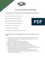 copy of non-profit service organization in-depth study