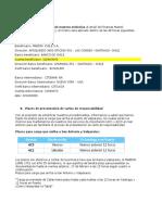 CHILE Medios de Pago y Los Plazos de Presentacion de Cartas de Responsibilidad