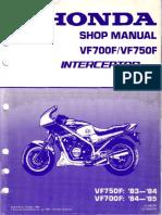VF700F VF750F 83-85 Shop Manual