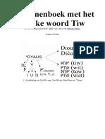 Het runenboek met het unieke woord Tiw