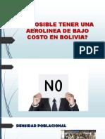 ES POSIBLE TENER UNA AEROLINEA DE BAJO COSTO EN BOLIVIA