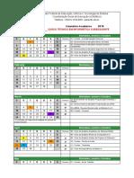 Calendário Subsequente Em Informática - 2019