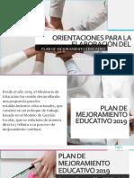 Plan de Mejoramiento 2019 Jta