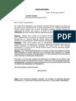 Carta Notarial de Separacion de Terreno.