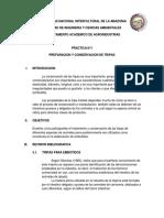 Practica n 1 Preparacion y Conservacion