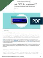 Cómo Entrar en La BIOS Del Ordenador PC - Solvetic