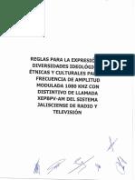 Reglas Para La Expresión de Las Diversidades Ideológicas, Étnicas y Culturales Del Cc 1080 Am Aprobadas Por Jg