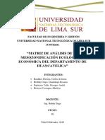 Matriz de La ZEE Huancavelica