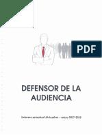Informe Defensor de Audiencia Diciembre 2017-Mayo 2018