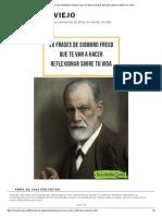 20 Frases de Sigmund Freud Que Te Van a Hacer Reflexionar Sobre Tu Vida