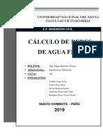 CALCULO DE REDES DE AGUA FRIA