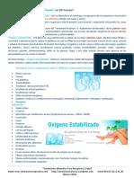 Curar Ulcera Varicosa, Pie Diabético, Psoriasis, Mala Circulación Con Oxígeno Estabilizado