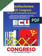 Resoluciones Del XXXI Congreso Del PCU