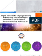 Digital literacies for language learning and teaching