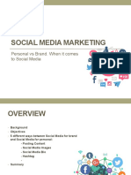 Social Media Marketing Personal vs Brand