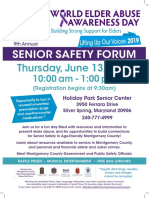 9th Annual Senior Safety Forum World Elder Abuse Awareness Day