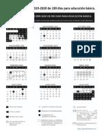 Calendario SEP 19-20-190 Dias