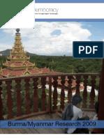Digital Democracy Burma/Myanmar Report