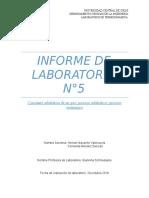 Laboratorio 5 de Termodinamica
