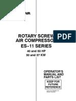 ROTARY SCREW AIR COMPRESSOR ES-11