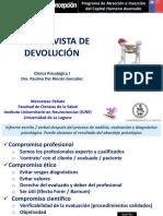 8 La Entrevista de Devolución w Peñate