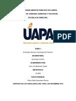 Tarea I de Sociologia Juridica