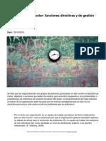 La Organización Escolar Funciones Directivas y de Gestión