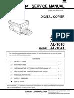 AL-10PK 11PK 1010 1041 Service Manual