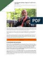 Con La Presencia de Eduardo Sacheri, Llega La 3º Edición de La Feria Del Libro de Pilar _ Que Pasa Zona Norte