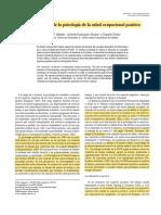 Emergencia de la Psicología Salud ocupacional Positiva