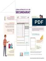 Infografias Como Llenar Boletas Secundaria