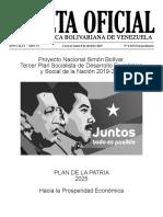 Plan de la patria Simon Bolívar 2019-2025