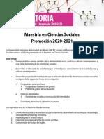 Convocatoria_maestría Ciencias Sociales