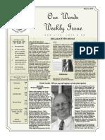 Newsletter Volume 10 Issue 19