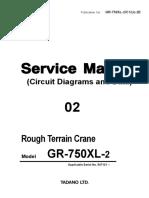 Tadano RT775 - Manual de Sevicio 2-C1(U)-2E