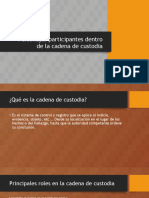 Personajes Participantes Dentro de La Cadena de Custodia