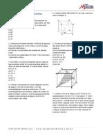 Geometria Espacial Prismas Exercicios