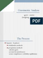 Gravimetric Analysis (Summary)
