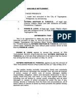 Amicable Settlement Liggayu
