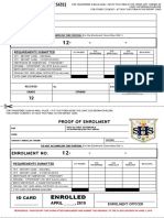 g12 Envelope Tag and Proof of Enrolment