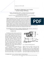 Characteristic Behavior of High-Speed Craft at Transition From Bow-Wetting to Full Planing