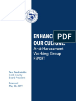 Enhancing Our Culture Anti-Harassment Working Group Report 5-30-19