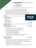 joanne shaw resume