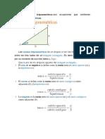 Las Funciones Trigonomeetricas