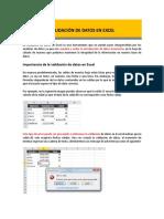 Validación de Datos en Excel (1)