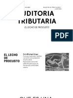 Auditoria Tributaria- El Lecho de Procusto