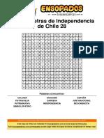 Sopa de Letras de Independencia de Chile 28